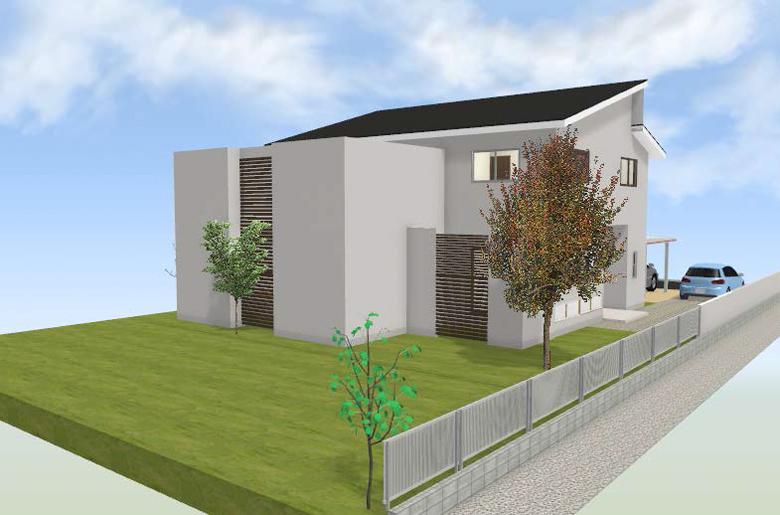 建築用3Dパース図の見本